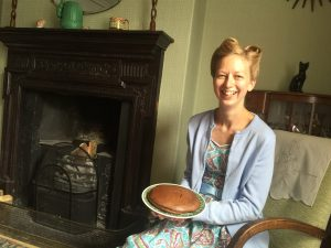 Becci Sharrock with her eggless chocolate cake (1)