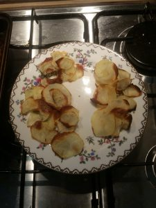 Homemade Crisps - after cooking